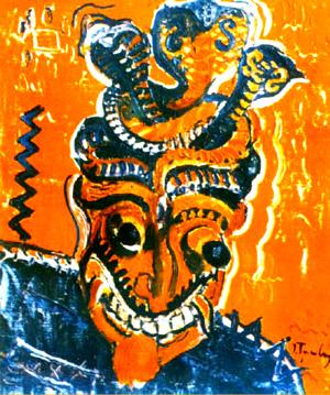 Ion Ţuculescu - Masca africana