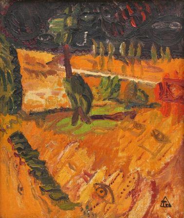 Ion Ţuculescu - Peisaj cu copac