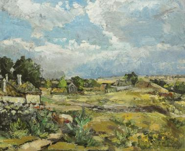 Ion Ţuculescu - Peisaj din Costinești
