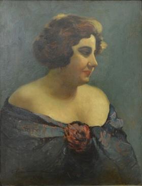 Ion Ţuculescu - Portretul actritei Aura Fotino, 1927