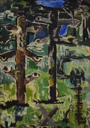 Ion Ţuculescu - Trunchiuri de copaci