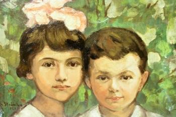 Ipolit Strâmbu  - Doi copii