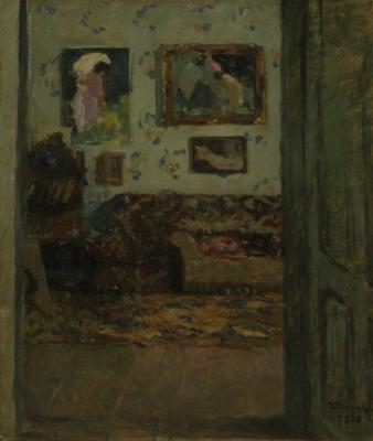 Ipolit Strâmbu  - Interior in casa artistului