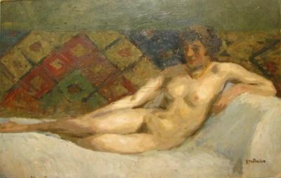Ipolit Strâmbu  - Nud pe divan