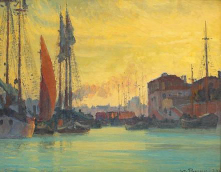 Ștefan Popescu - Înserare peste Chioggia
