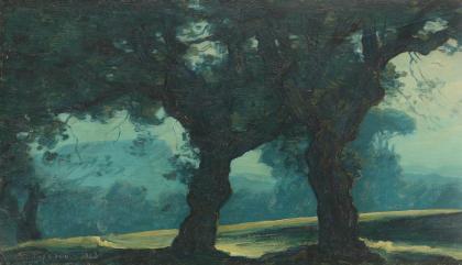 Ștefan Popescu - Peisaj albastru
