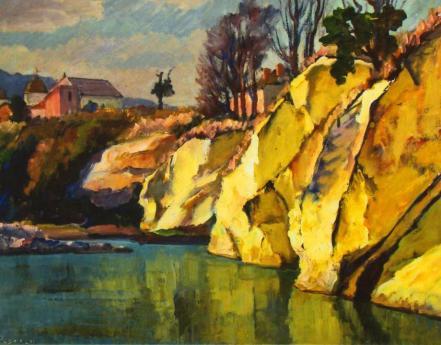 Ștefan Popescu - Peisaj de pe Valea Trotuşului
