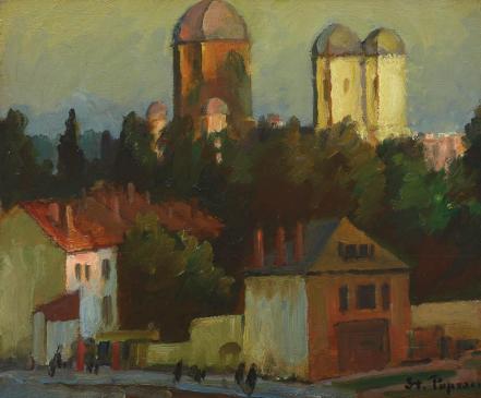 Ștefan Popescu - Peisaj din Câmpulung
