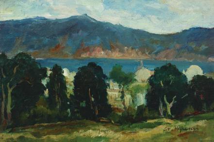 Ștefan Popescu - Peisaj din Maroc (Lacul Bin el Ouidane)