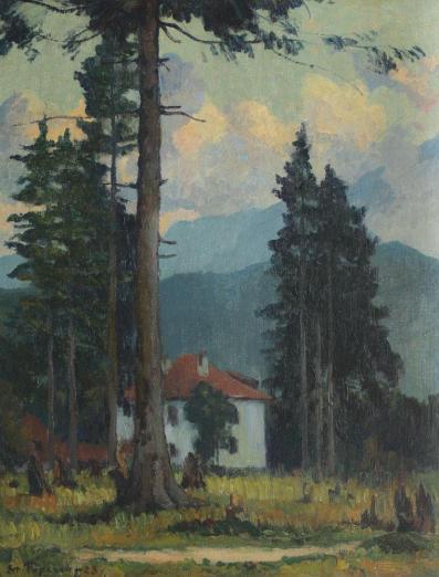 Ștefan Popescu - Peisaj din Predeal