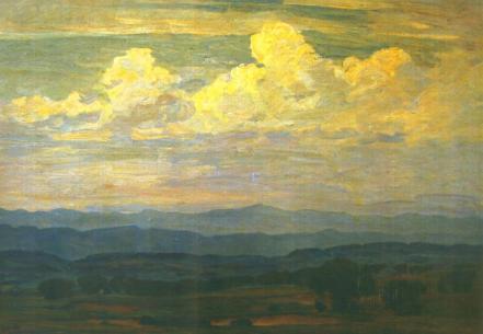 Ștefan Popescu - Peisaj pe Valea Râmnicului