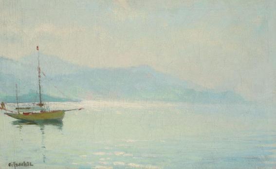 Constantin Isachie Popescu - Dimineaţă pe malul lacului