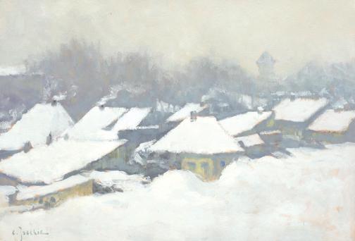 Constantin Isachie Popescu - Iarnă grea