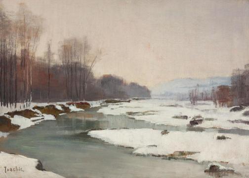Constantin Isachie Popescu - Peisaj de iarnă