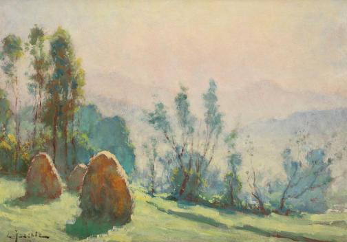 Constantin Isachie Popescu - Peisaj de vară.