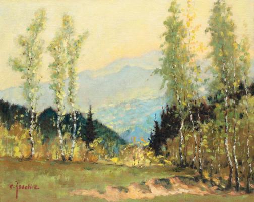 Constantin Isachie Popescu - Peisaj pe Grui