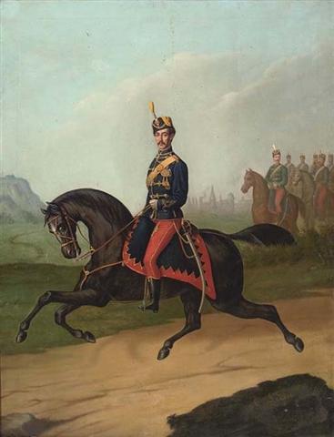 Constantin Lecca - Ofiter de cavalerie