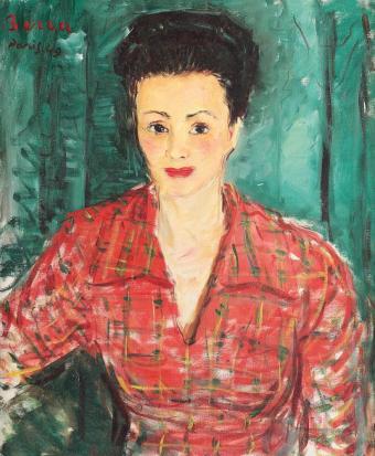 Dimitrie Berea - Femeie în roșu