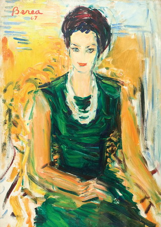 Dimitrie Berea - Femeie in verde