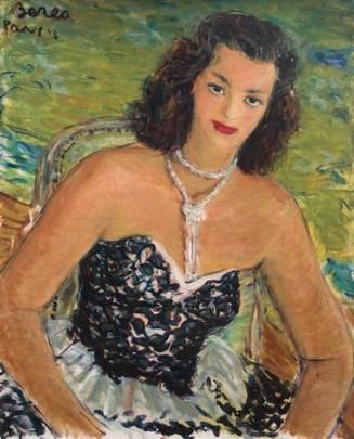 Dimitrie Berea - Portret de femeie cu margele