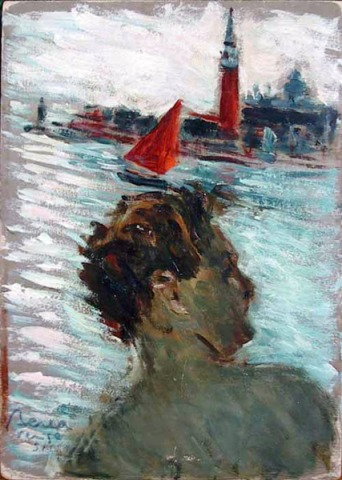 Dimitrie Berea - Self Portrait in Venice Italy