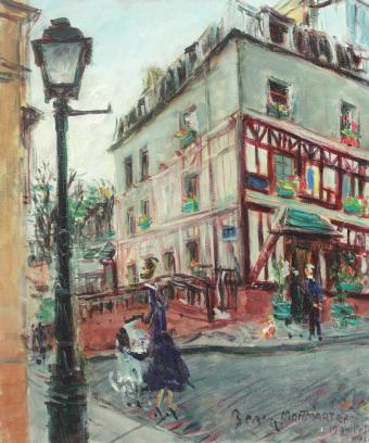 Dimitrie Berea - Stradă din Montmartre