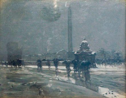 Emilian Lăzărescu - Piaţă din Paris