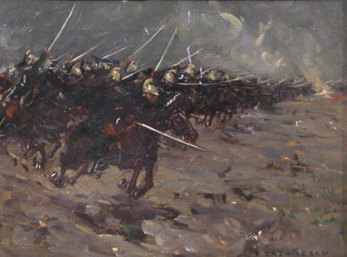 Emilian Lăzărescu - Sarja de cavalerie