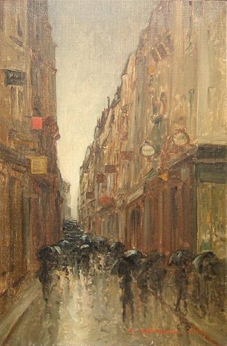 Emilian Lăzărescu - Strada pariziana