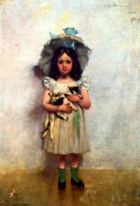 George Demetrescu Mirea - Fetita cu pisici