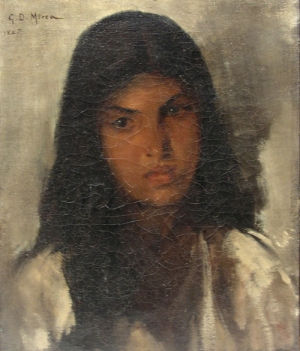 George Demetrescu Mirea - Portret de tanara