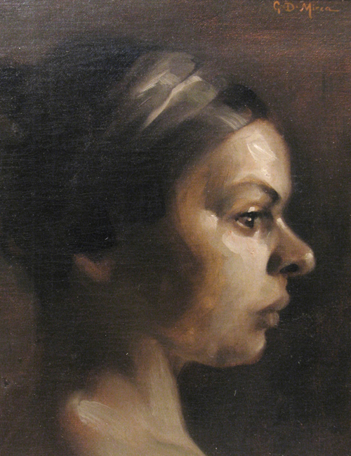 George Demetrescu Mirea - Profil de femeie.