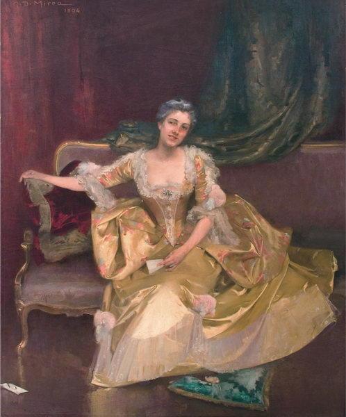George Demetrescu Mirea - Sotia pictorului.