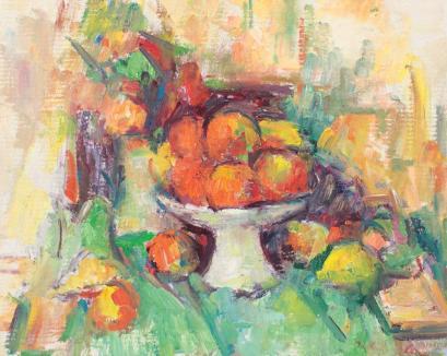 Ion Musceleanu - Natură statică cu fructe, flori şi carte