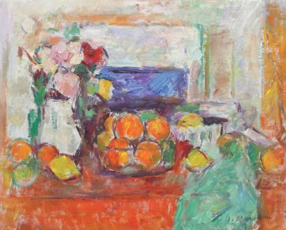 Ion Musceleanu - Natură statică cu lămâi și portocale