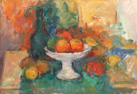 Ion Musceleanu - Natură statică cu mere