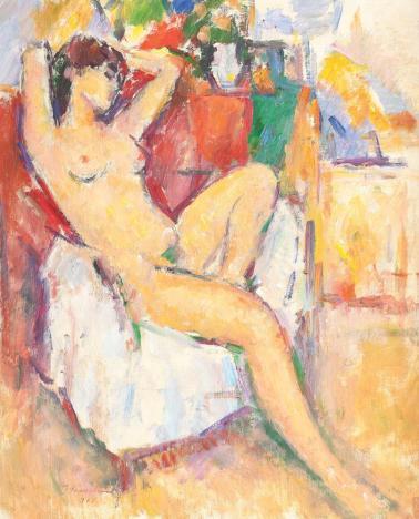 Ion Musceleanu - Nud în fotoliu