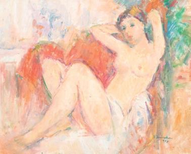 Ion Musceleanu - Nud pe sofa