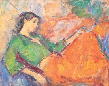 Ion Musceleanu - Odaliscă în verde