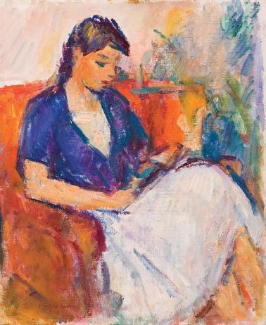 Ion Musceleanu - Tânără citind