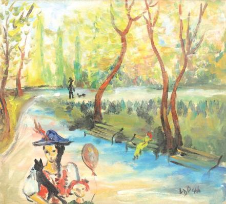 Lucia Bălăcescu Demetriade - În parc