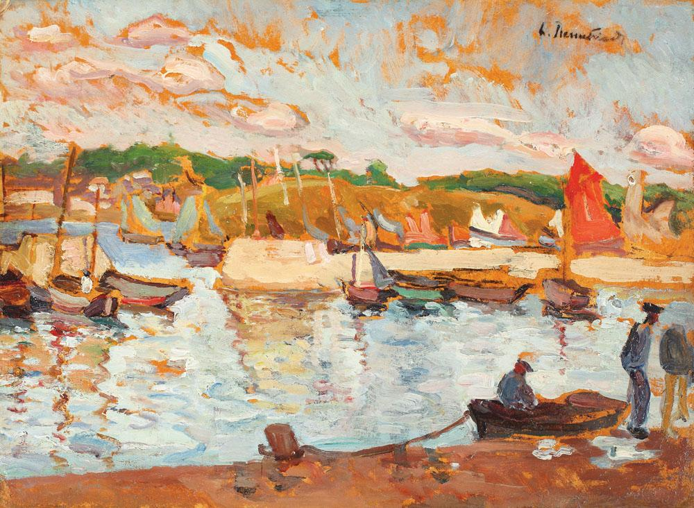 Lucia Bălăcescu Demetriade - Vedere din portul Concarneau