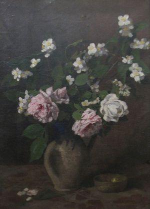 Ludovic Bassarab - Cana cu trandafiri si crengi de lamaita