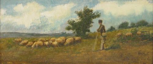 Ludovic Bassarab - Cioban cu turma de oi