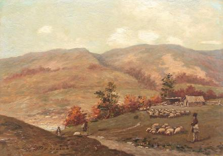 Ludovic Bassarab - Peisaj cu stână, pe Valea Prahovei