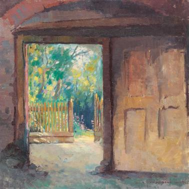 Marin H. Georgescu - Vedere spre gradina