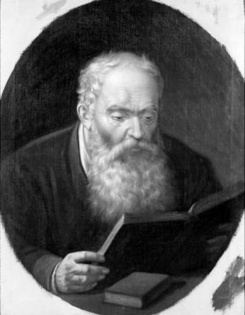 Mișu Popp - Tatal pictorului citind