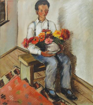 Micaela Eleutheriade - Micul grădinar (Portretul lui Constantin)