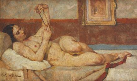 Nicolae Enea - Nud cu mărgele