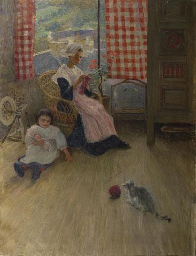 Nicolae Grant - Femeie lucrand galerie
